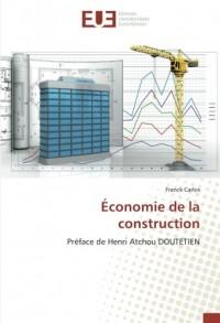 Économie de la construction