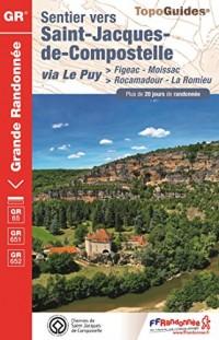 Sentier vers Saint-Jacques-de-Compostelle via Le Puy > Figeac-Moissac - > Rocamadour-La Romieu : Plus de 20 jours de randonnée