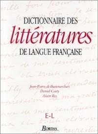 Dictionnaire des littératures de langue française, tome 2 : De E à L