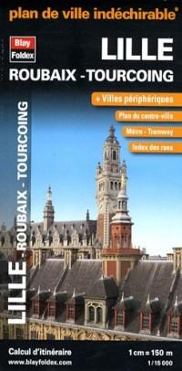 Plan de Lille-Roubaix-Tourcoing - Carte indéchirable