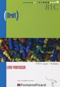 Droit BTS 1ère année : Livre du professeur