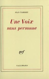 Une Voix sans personne