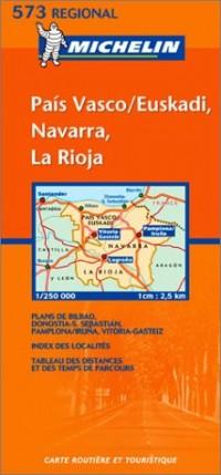 Carte routière : Pais Vasco, Navarra, La Rioja, N° 11573 (en espagnol)