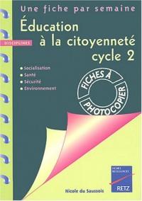 Education à la citoyenneté cycle 2