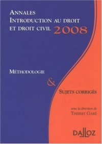 Introduction au droit et droit civil : Annales, méthodologie et sujets corrigés