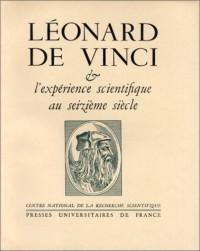 Léonard de Vinci et l'expérience scientifique au seizieme siècle