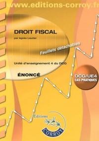 Droit fiscal UE 4 du DCG : Enoncé