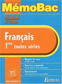 MEMO PREPA. EXAM. FRANCAIS 1ERE    (Ancienne Edition)