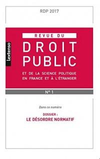 Revue du droit public, N° 1, janvier 2017 :