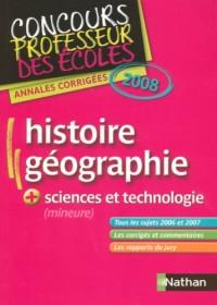 Histoire et géographie + sciences et technologie (mineure) : Annales corrigées