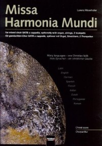 Missa Harmonia Mundi - SATB and Organ - PART