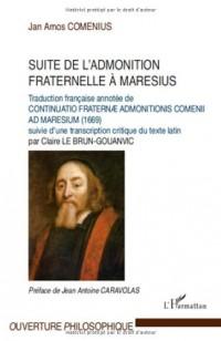 Suite de l'admonition fraternelle à Maresius