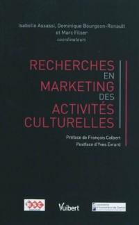Recherches en marketing des activités culturelles