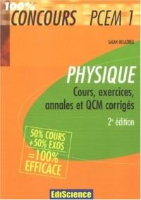 Physique PCEM 1 : Cours, exercices, annales et QCM corrigés