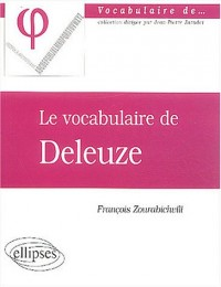 Le vocabulaire de Deleuze