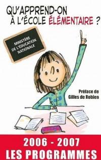 Qu'apprend-on à l'école élémentaire ? : Les programmes
