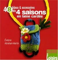 48 bijoux et accessoires des 4 saisons en laine cardée
