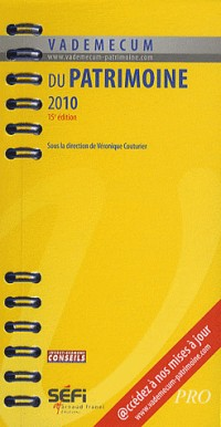 Vademecum du patrimoine 2010