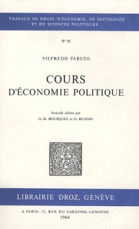 Cours d'économie politique : Tomes 1 et 2