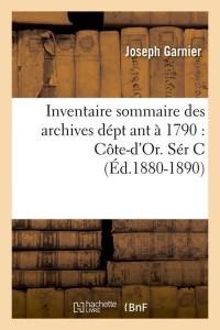 Inventaire  Cote d Or  Ser C  ed 1880 1890