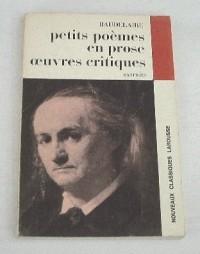 Les petits poèmes en prose de Baudelaire