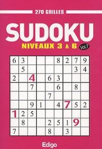 Sudoku : 270 grilles, niveaux 3 à 6