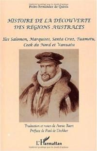 Histoire de la découverte des regions australes. iles salomon, marquises, santa cruz, tuamotu