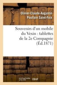 Souvenirs d un mobile du vexin  ed 1871