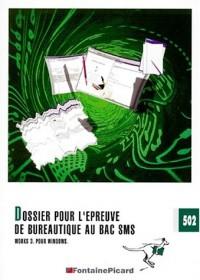 Dossier pour l'epreuve de bureautique works 3.0. terminales sms (enonce) ref. 502