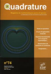 Quadrature 74 Voyages Mathematiques