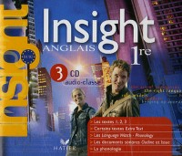 Insight - Anglais 1re, 3 CD Audio-Classe