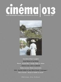 Cinéma, N° 13 :