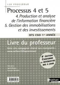 Processus 4/5 BTS CGO 1e année : Livre du professeur