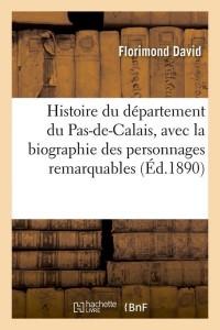 Histoire Département Pas de Calais  ed 1890
