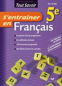 S'entraîner en Français 5e