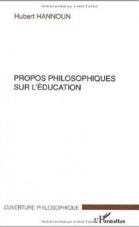 Propos philosophiques sur l'éducation