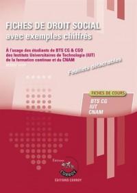 Fiches de  droit social avec exemples chiffrés: Processus 4 du BTS CG