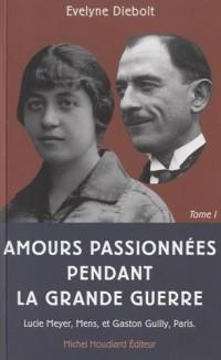 Amours passionnées pendant la Grande Guerre : Tome 1, Lettres de Lucie Meyer (1892-1919), Mens à Gaston Guilly (1889-1945), Paris
