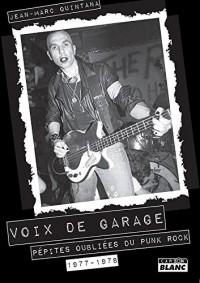 Voix de garage Pépites oubliées du punk rock 1977-1978