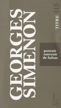 Portrait souvenir de Balzac