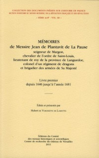 Memoires de Messire Jean de Plantavit de la Pause