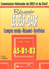 Le DELF-DALF : Compte rendu - Résumé - Synthèse, unité A5-B1-B3