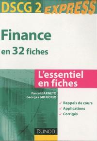 Finance DSCG 2 - en 32 fiches
