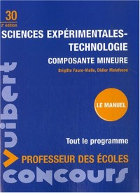 Sciences expérimentales-Technologie composante mineure : Concours professeur des écoles