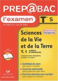 Prépabac, l'examen : Sciences de la Vie et de la Terre, tome 1 : Restitution de connaissances, terminale S - Enseignement obligatoire, question de type 1