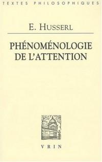 Phénoménologie de l'attention