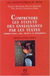 Comprendre les statuts des enseignants par les textes