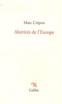 Altérités de l'Europe