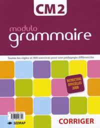 Lot Modulo Classeur Exercices + Classeur Corriges Grammaire CM2