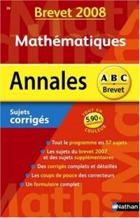 Mathématiques : Sujets corrigés